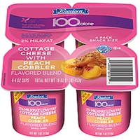 Knudsen 100 Calorie Cottage Cheese Peach Cobbler Small Curd 2% Milkfat 4 Oz Food Product Image