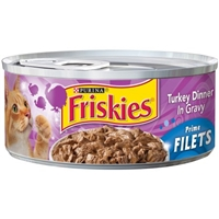 Purina Friskies Prime Filets Turkey Dinner in Gravy Cat Food Food Product Image