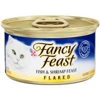 Purina Fancy Feast Fish & Shrimp Feast Flaked Gourmet Cat Food Food Product Image