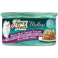 Fancy Feast Medleys Gourmet Cat Food White Meat Chicken Tuscany in a Savory Sauce Food Product Image