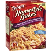 Banquet Homestyle Bakes Cheesy Ham & Hashbrowns Food Product Image