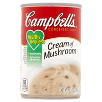 Campbell's Healthy Request Cream of Mushroom Condensed Soup Food Product Image