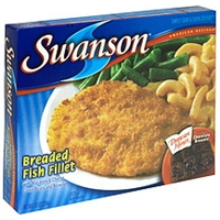 Swanson Breaded Fish Fillet With Macaroni & Cheese Green Beans And Brownie Food Product Image