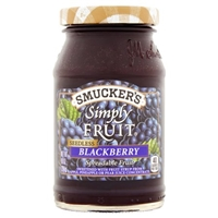 Smucker's Simply Fruit Blackberry Spreadable Fruit Seedless Food Product Image