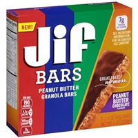 Jif Peanut Butter Granola Bars Peanut Butter Chocolate - 5 CT Food Product Image