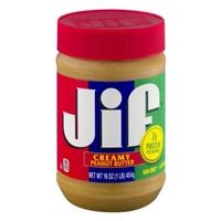Jif Peanut Butter Creamy Food Product Image