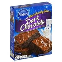 Pillsbury Brownie Mix 13 x 9 Family Size Dark Chocolate Food Product Image