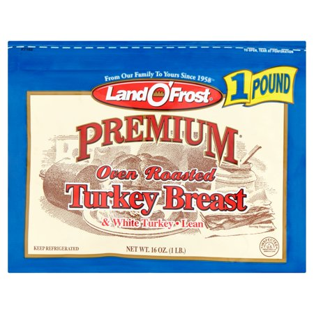 Land O' Frost Premium Oven Roasted Lean Turkey Breast and White Turkey Food Product Image