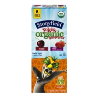 Stonyfield Organic YoKids Squeezers Cherry & Berry Lowfat Yogurt - 8 CT Food Product Image