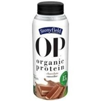 Stonyfield Organic OP Protein Smoothie Chocolate Food Product Image