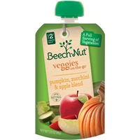 Beech-Nut Veggies On-The-Go Stage 2 Pumpkin, Zucchini & Apple Food Product Image