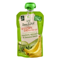 Beech-Nut Stage 2 Veggies On-The-Go Zucchini, Spinach & Banana Blend Food Product Image