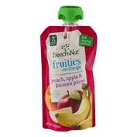 Beech-Nut Stage 2 Fruities On-The-Go Peach, Apple & Banana Puree Food Product Image