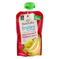 Beech-Nut Fruities O-The-Go Stage 2 Pear Banana & Raspberry Puree Food Product Image