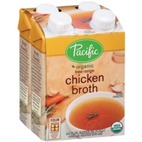 Pacific Organic Free Range Chicken Broth - 4 CT Food Product Image