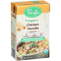 Pacific Organic Chicken Noodle Soup Reduced Sodium Food Product Image