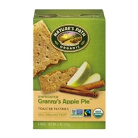 Nature's Path Organic Toaster Pastries Unfrosted Granny's Apple Pie - 6 CT Food Product Image