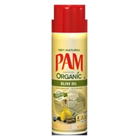 Pam Organic No-Stick Cooking Spray Extra Virgin Olive Oil Food Product Image