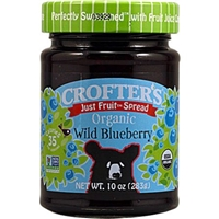 Crofter's Just Fruit Spread Organic Wild Blueberry Food Product Image