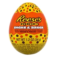 Reese's Pieces Shake & Break Milk Chocolate Easter Egg w/Reese's Pieces - 1.2oz Food Product Image