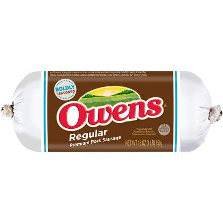Owens Regular Premium Pork Sausage Food Product Image