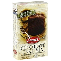 Streits Cake Mix Chocolate With Chocolate Frosting Mix Food Product Image