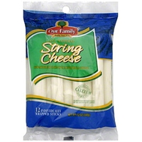 Our Family String Cheese Mozzarella Food Product Image