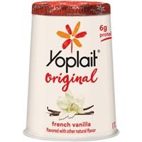 Yoplait Original 99% Fat Free French Vanilla Flavored Low Fat Yogurt Food Product Image