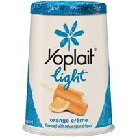 Yoplait Light Fat Free Yogurt Orange Creme Food Product Image