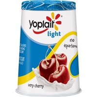 Yoplait Light Very Cherry Fat Free Yogurt Food Product Image