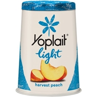 Yoplait Light Fat Free Yogurt Harvest Peach Food Product Image