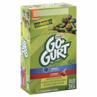 Yoplait GoGurt Low Fat Portable Yogurt, Agent Berry/ Perry Cherry Food Product Image