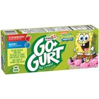 Yoplait GoGurt Low Fat Portable Strawberry Riptide/ Sponge Berry Yogurt Food Product Image