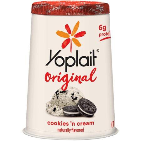 Yoplait Original Cookies 'n Cream Yogurt Food Product Image