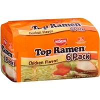 Nissin Top Ramen Noodle Soup Chicken Flavor - 6 PK Food Product Image