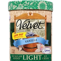Velvet Vanilla Ice Cream Food Product Image