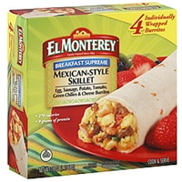 El Monterey Signature Burritos Egg, Sausage, Cheese & Potato - 4 CT Food Product Image
