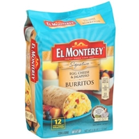El Monterey Burritos Breakfast Supreme Jalapeno Egg & Cheese Food Product Image