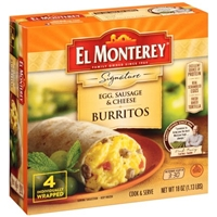 El Monterey Signature Egg, Sausage & Cheese Burritos - 4 CT Food Product Image