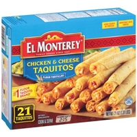 El Monterey Chicken & Cheese Taquitos - 21 CT Food Product Image