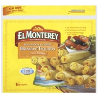 El Monterey Breakfast Taquitos Food Product Image