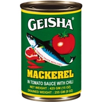 Geisha Mackerel in Tomato Sauce with Chili, 15 oz Food Product Image