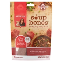 Rachael Ray Nutrish Soup Bones Real Beef & Barley Flavor Chew Bones For Dogs - 3 Ct Food Product Image