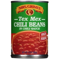 Mrs. Grimes Chili Beans Tex Mex Style, In Chili Sauce Food Product Image