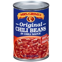 Mrs. Grimes Original Style  Chili Beans in Chili Sauce Food Product Image
