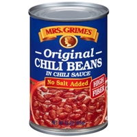 Mrs. Grimes Chili Beans Original Style, In Chili Sauce, No Salt Added Food Product Image