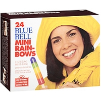 Blue Bell Mini Rain-bow Pops Food Product Image