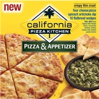 California Pizza Kitchen Crispy Thin Crust Pizza & Appetizer Food Product Image