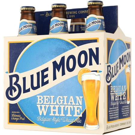 Blue Moon Belgian White Ale 6 PK Bottles Food Product Image