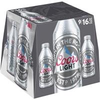 Coors Light Aluminum Pints - 9 Ct Food Product Image